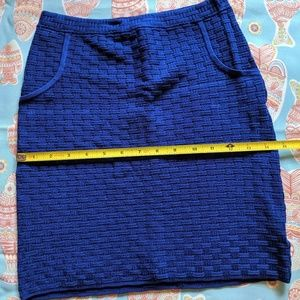 BEBE BLUE MINI SKIRT